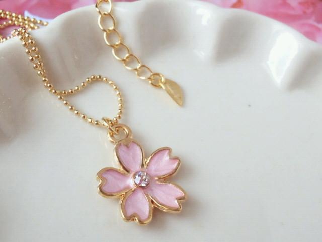 ラインストーン桜のNCピンク2