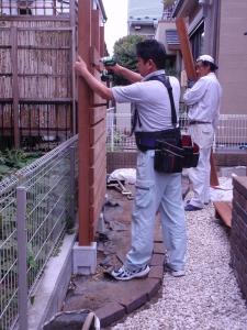 ウッドデッキ工事(鶴見区馬場) :エクステリア横浜(神奈川県・東京都の外構工事専門店)