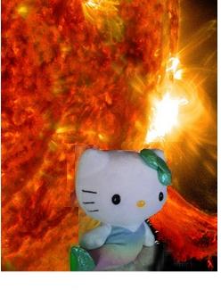 太陽とキティちゃん