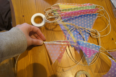 ハート 折り紙 : 折り紙 ガーランド 作り方 : farfar0605farfar.blog.fc2.com