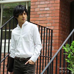 メンズ白シャツ1