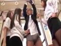セクハラ教頭を電車内で逆痴漢制裁する女教師3人組