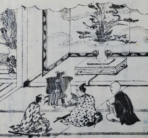 「都林泉名勝図会」より「七夕池坊立花」