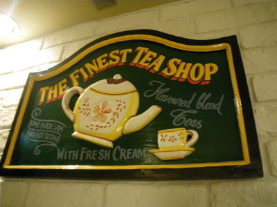 TEA SHOPの看板