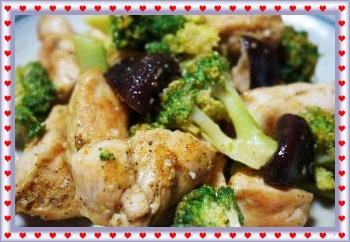 鶏胸肉とブロッコリーのカレー炒めアップ