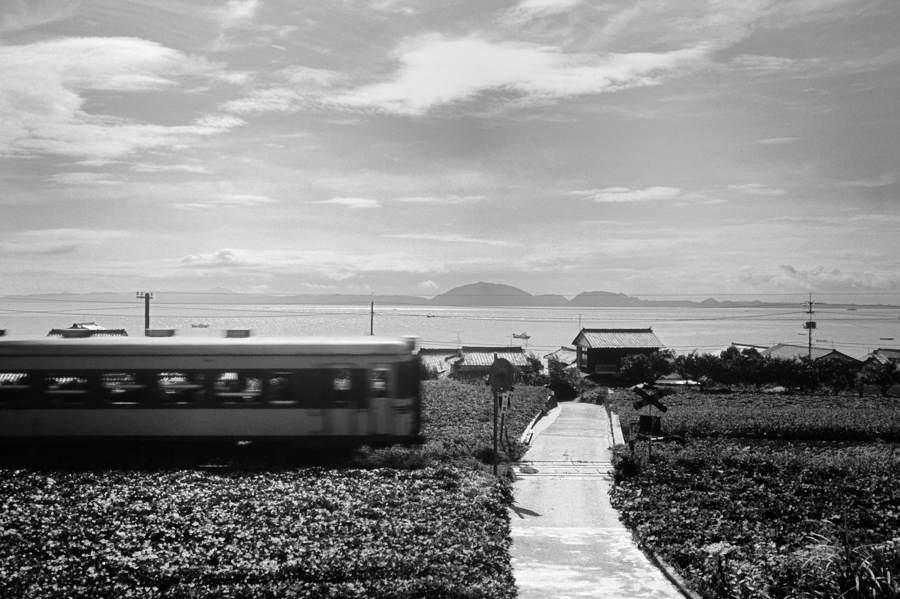 島原鉄道 不明地点踏切1 1982年8月 16bitAdobeRGB 原版 take2b