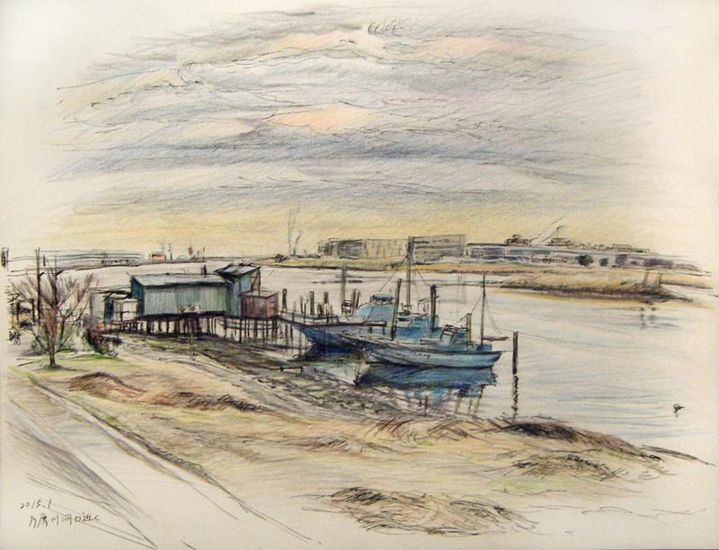 多摩川河口風景