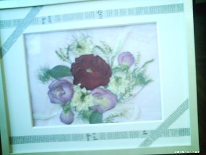 バラの押し花