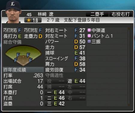 林崎遼 プロ野球スピリッツ2015