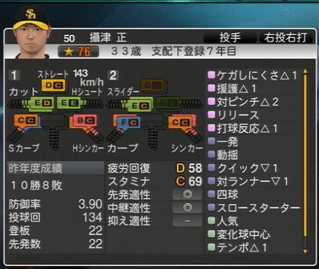 摂津正 プロ野球スピリッツ2015 ver1.06