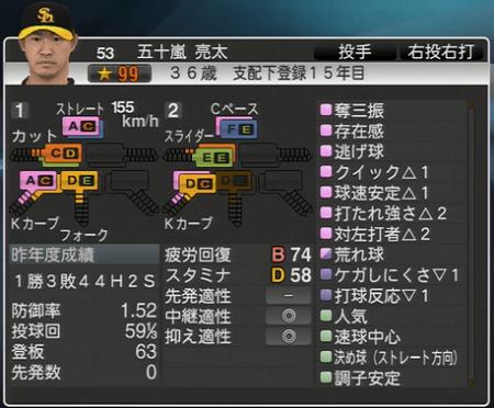 五十嵐亮太 プロ野球スピリッツ2015 ver1.06