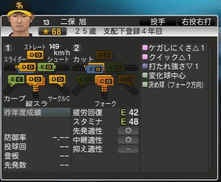 二保旭 プロ野球スピリッツ2015 ver1.06