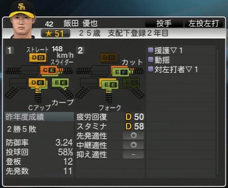 飯田雄也 プロ野球スピリッツ2015 ver1.06