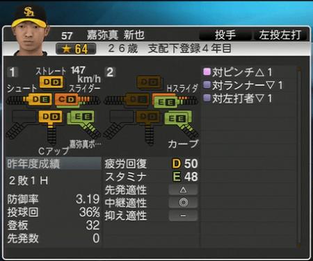 嘉弥真新也 プロ野球スピリッツ2015 ver1.06