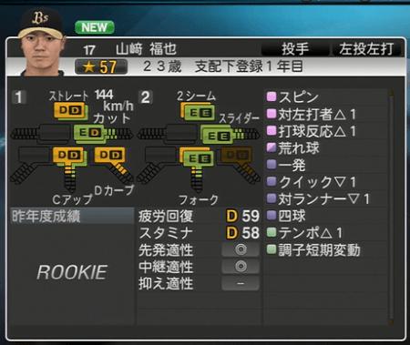山﨑 福也 プロ野球スピリッツ2015 ver1.06