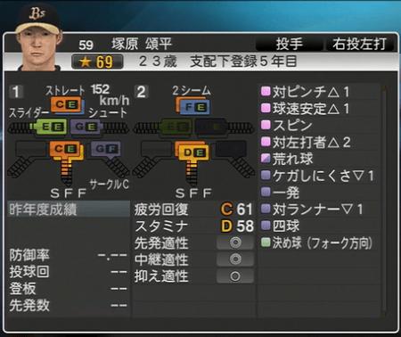 塚原 頌平 プロ野球スピリッツ2015 ver1.06