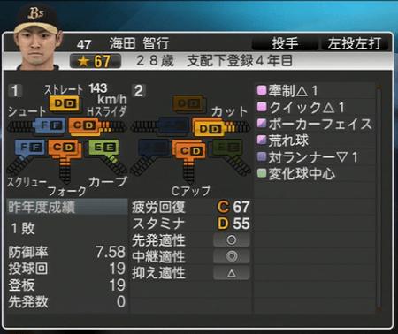 海田 智行 プロ野球スピリッツ2015 ver1.06