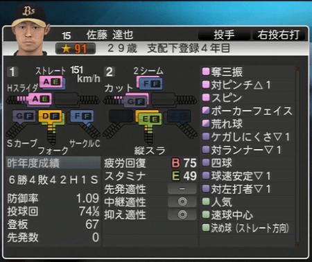 佐藤 達也 プロ野球スピリッツ2015 ver1.06