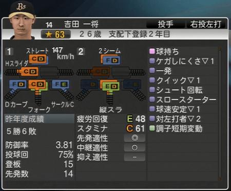 吉田 一将 プロ野球スピリッツ2015 ver1.06
