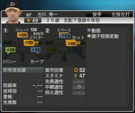 古川 秀一 プロ野球スピリッツ2015 ver1.06