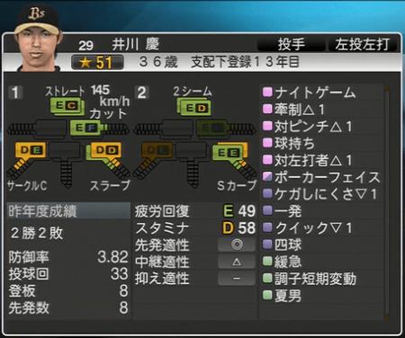 井川 慶 プロ野球スピリッツ2015 ver1.06
