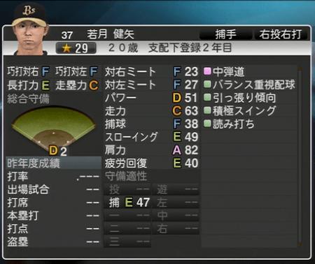 若月 健矢 プロ野球スピリッツ2015 ver1.06