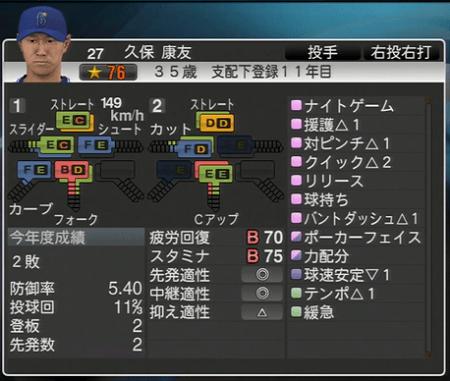 久保康友 プロ野球スピリッツ1.05