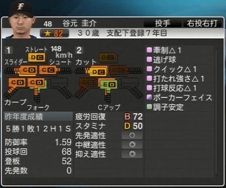 谷元 圭介 プロ野球スピリッツ2015 ver1.06