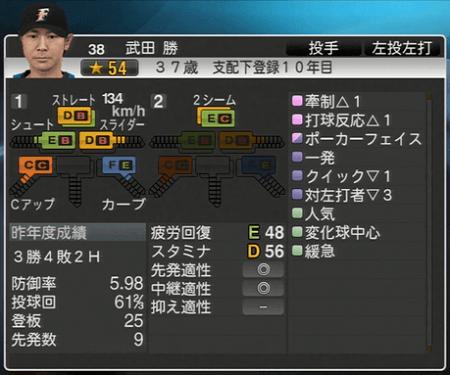 武田 勝 プロ野球ス  ピリッツ2015 ver1.06
