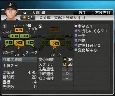 大塚 豊 プロ野球ス  ピリッツ2015 ver1.06