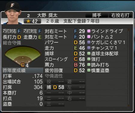 大野 奨太 プロ野球スピリッツ2015 ver1.06