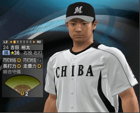 吉田裕太 プロ野球スピリッツ2015 ver1.06
