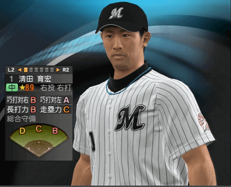 清田 育宏 プロ野球スピリッツ2015 ver1.06