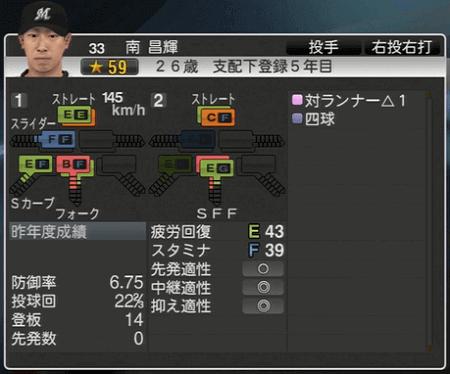 南 昌輝 プロ野球スピリッツ2015 ver1.06