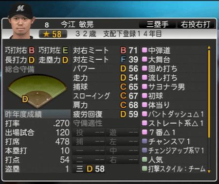今江 敏晃 プロ野球スピリッツ2015 ver1.06