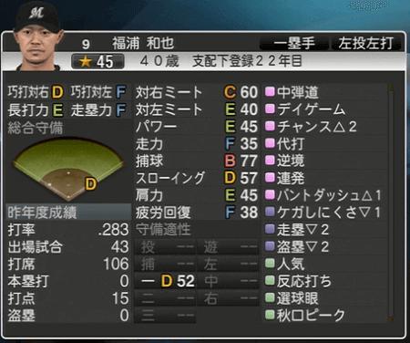 福浦 和也 プロ野球スピリッツ2015 ver1.06