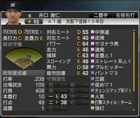 井口 資仁 プロ野球スピリッツ2015 ver1.06
