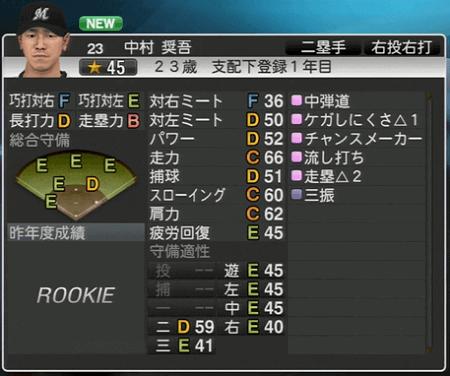 中村 奨吾 プロ野球スピリッツ2015 ver1.06