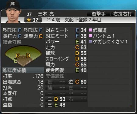 三木 亮 プロ野球スピリッツ2015 ver1.06