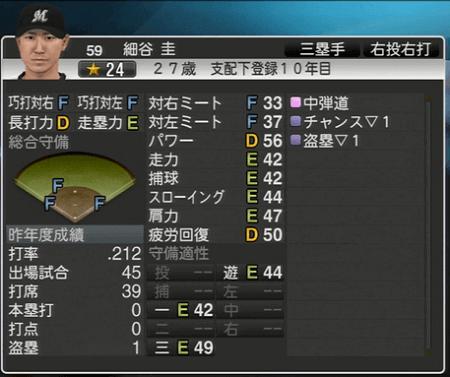 細谷 圭 プロ野球スピリッツ2015 ver1.06