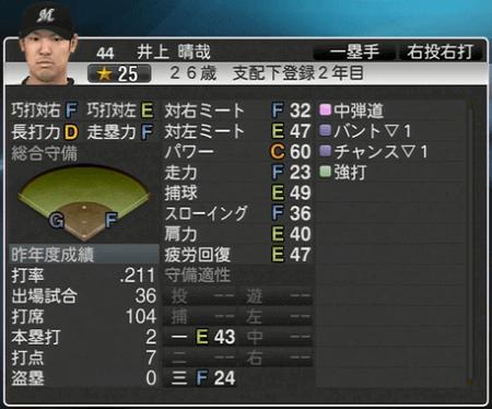 井上 晴哉 プロ野球スピリッツ2015 ver1.06