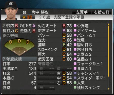 角中 勝也 プロ野球スピリッツ2015 ver1.06