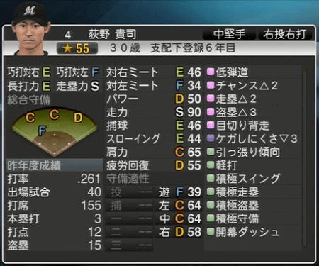 荻野 貴司 プロ野球スピリッツ2015 ver1.06