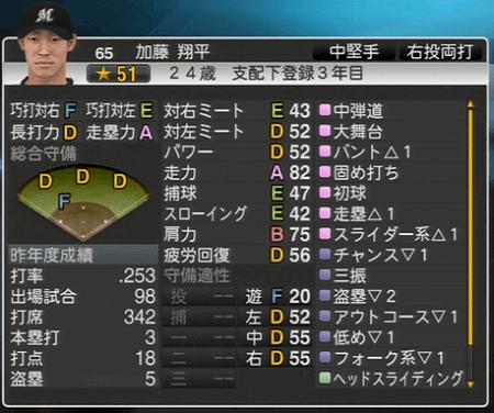 加藤 翔平 プロ野球スピリッツ2015 ver1.06