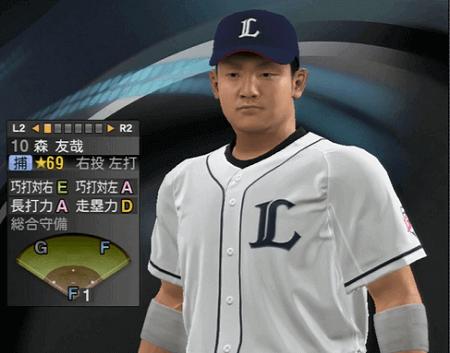 森友哉 プロ野球スピリッツ2015 ver1.06