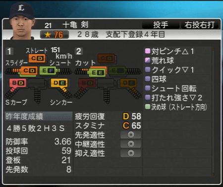 十亀 剣 プロ野球スピリッツ2015 ver1.06