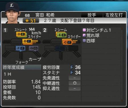 宮田 和希 プロ野球スピリッツ2015 ver1.06