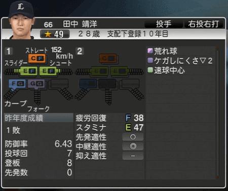 田中 靖洋 プロ野球スピリッツ2015 ver1.06