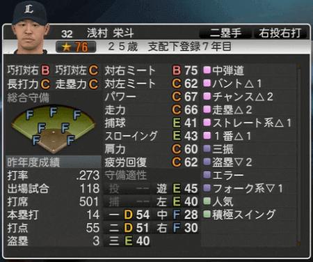浅村 栄斗 プロ野球スピリッツ2015 ver1.06