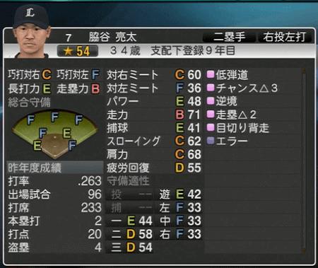 脇谷 亮太 プロ野球スピリッツ2015 ver1.06